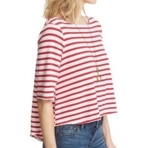 Free People Cannes Oversized Striped Boxy Top Sz M